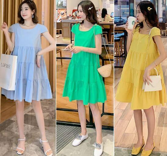 váy bầu đẹp 2020 mùa hè