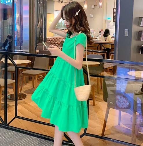 váy bầu công sở đẹp 2020