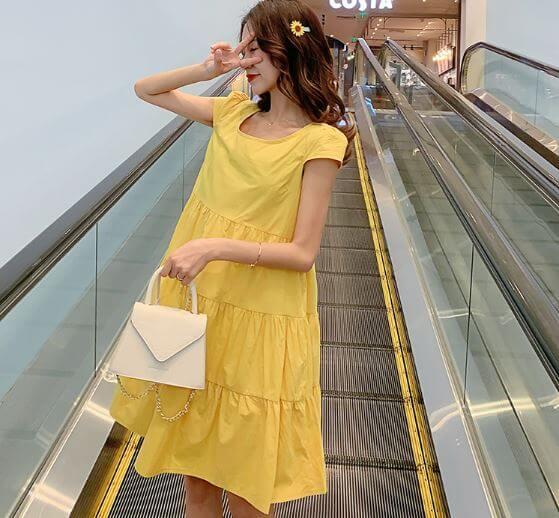 váy bầu mùa hè đẹp