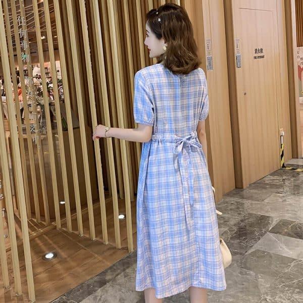 đầm bầu công sở dáng dài Hàn Quốc