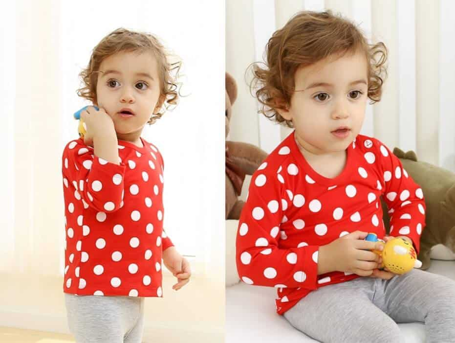 áo thun cho trẻ sơ sinh màu đỏ