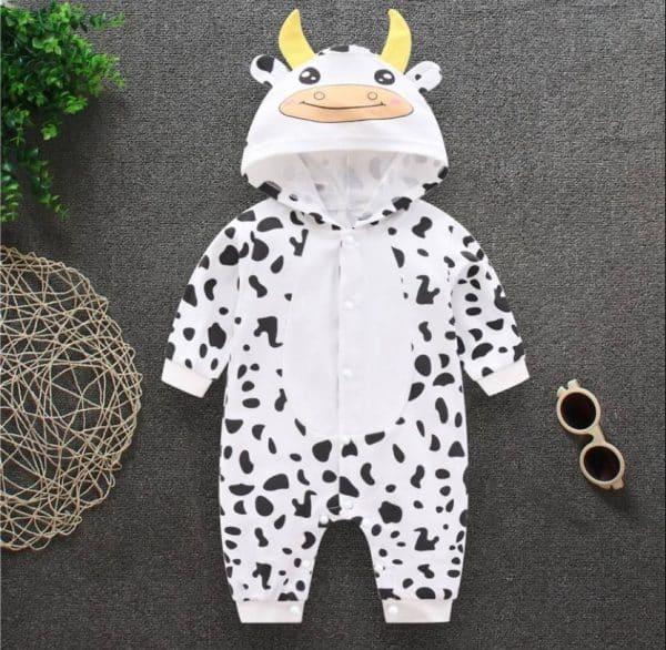 bộ áo liền quần hình thú cho bé sơ sinh